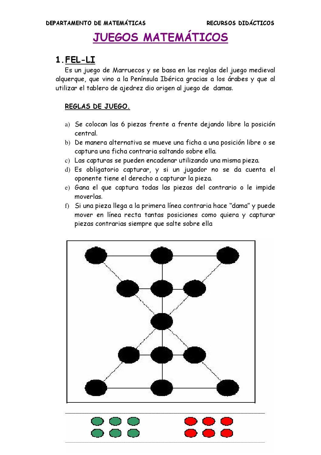 Juegos Matematicos Mates Pinterest Juegos De Matematicas