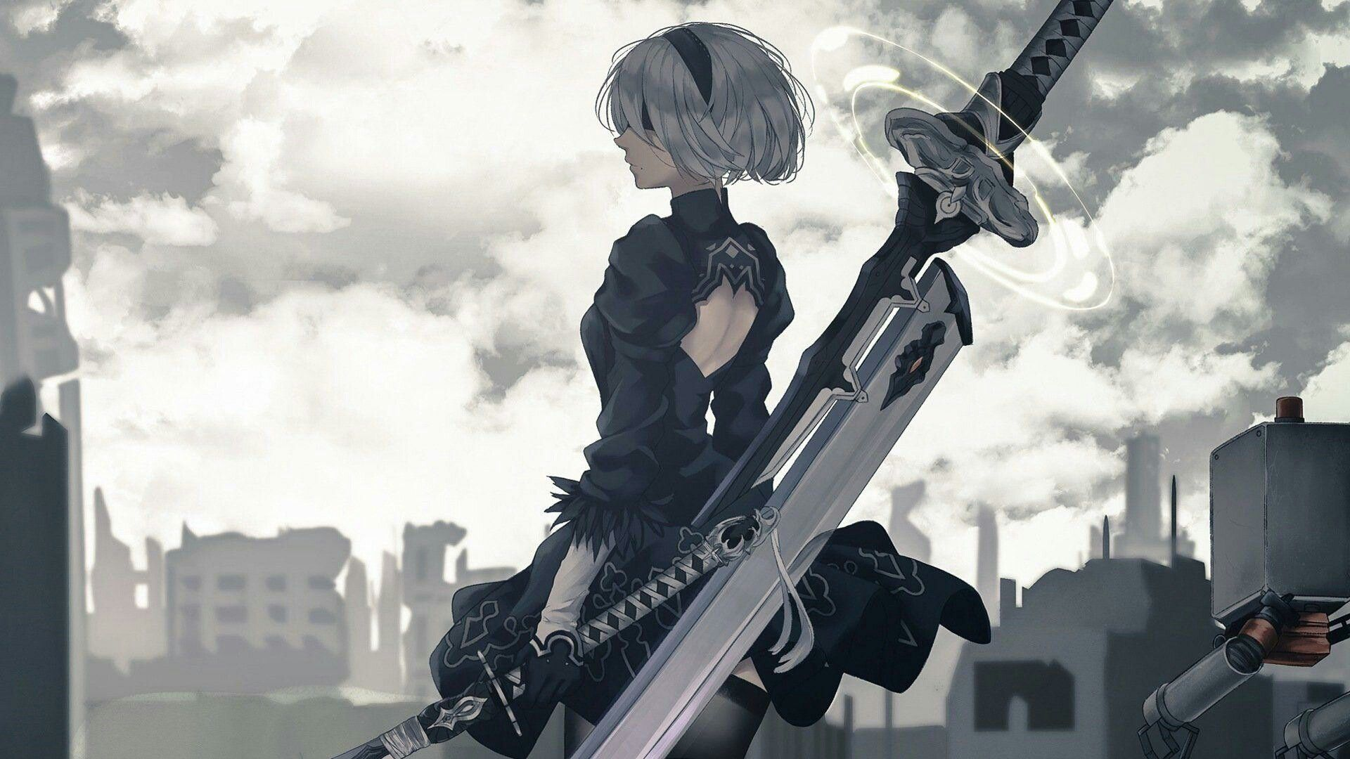Nier By Shadow Mcshady Nier Automata Automata Anime Canvas