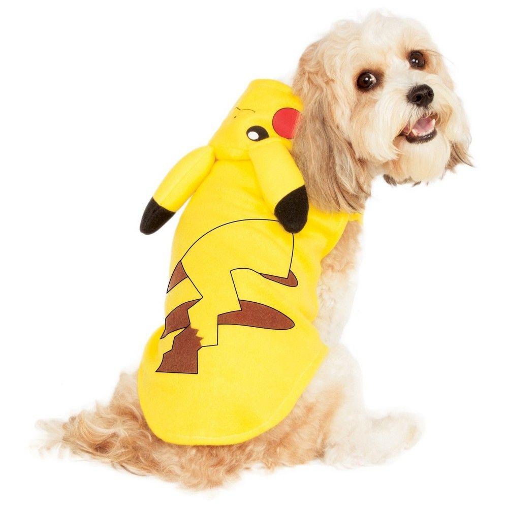 buyseasons pokemon pikachu hoodie pet costume yellow xl