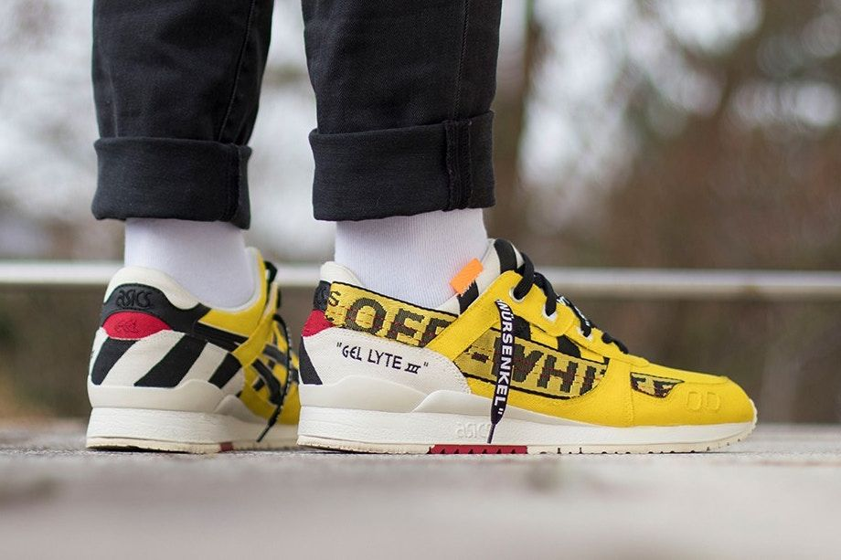 release date: 31353 07b1d This ASICS Gel-Lyte III Received a Custom Off-White ...