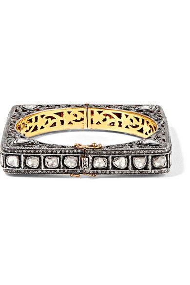 Amrapali 18-karat Gold And Sterling Silver Diamond Bracelet Ldbh2m