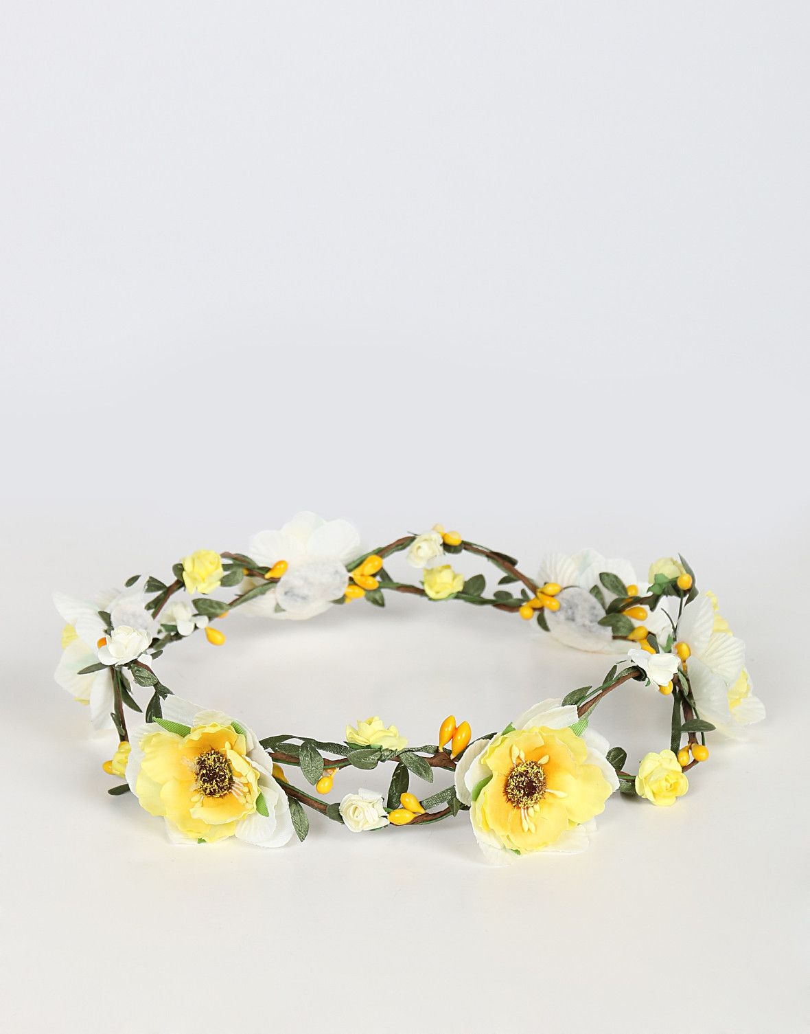 Double Wired Flower Crown - Yellow – 2020AVE ac461b2ecec