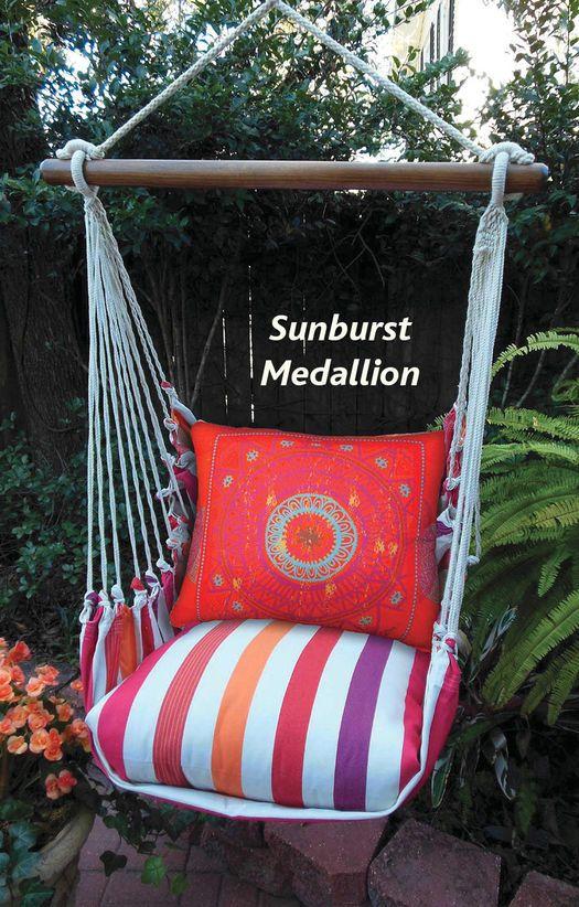sunburst medallion garden swing chair sunburst medallion garden swing chair   swing into summer      rh   pinterest