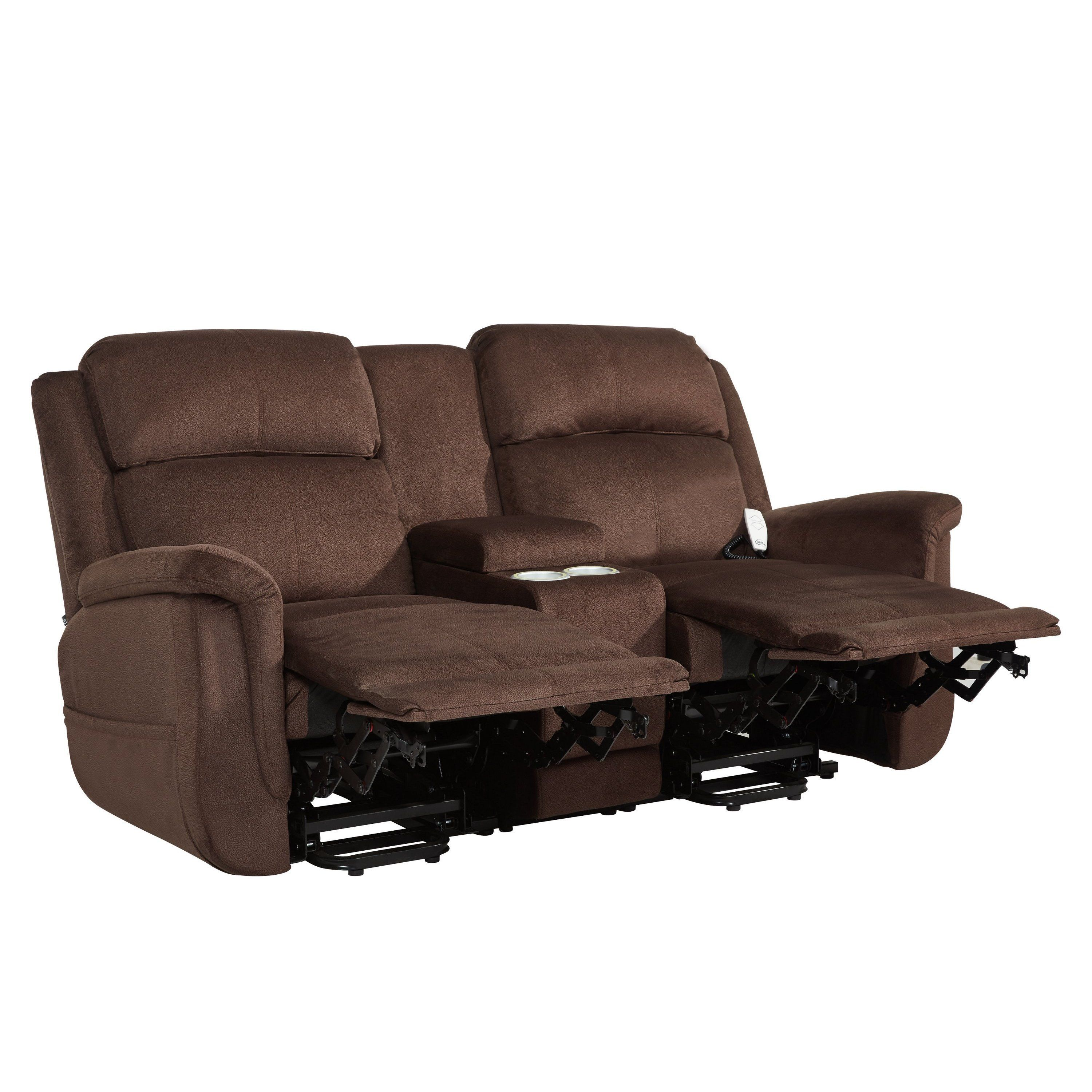 and pin reclining zero black gravity loveseat shipping smart power chairs tech two free bluetooth sofa