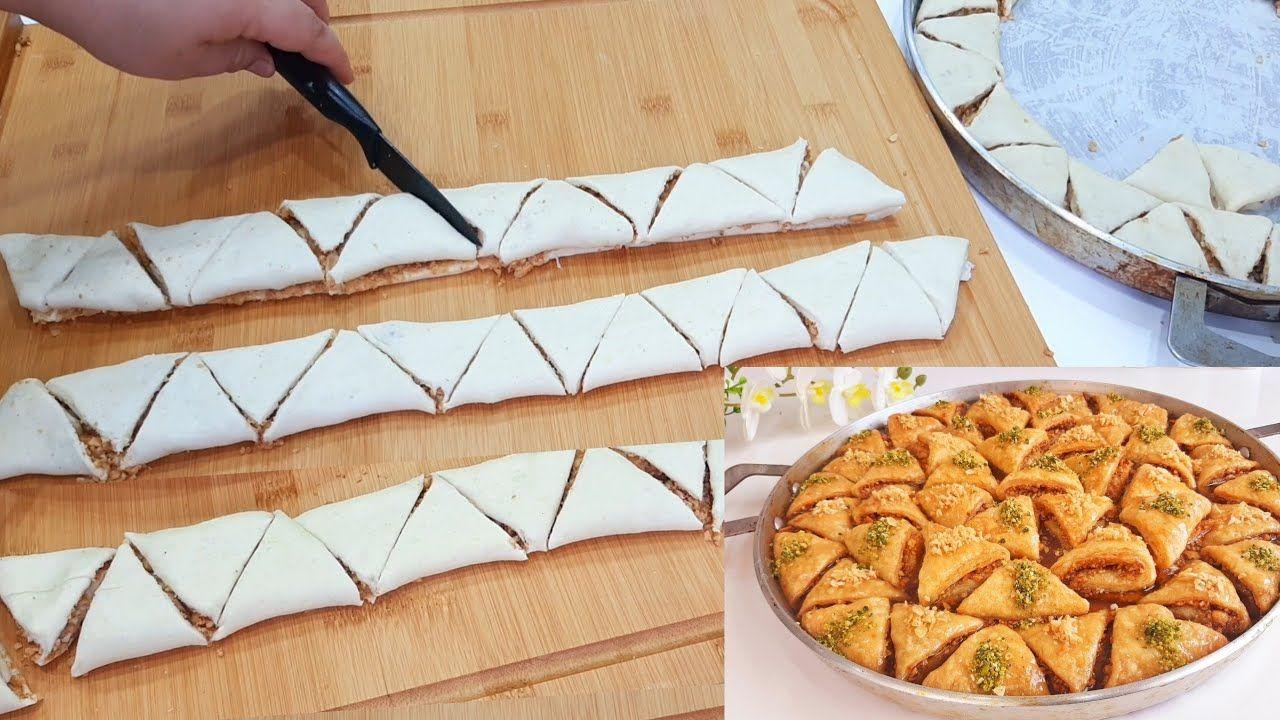 وداعا لورقة البسطيلة غير بعجينة المسمن السحرية بدون دلك ولا فيلو حضري بقلاوة مقرمشة معسلة رمضان Youtube Food Baklava Desserts