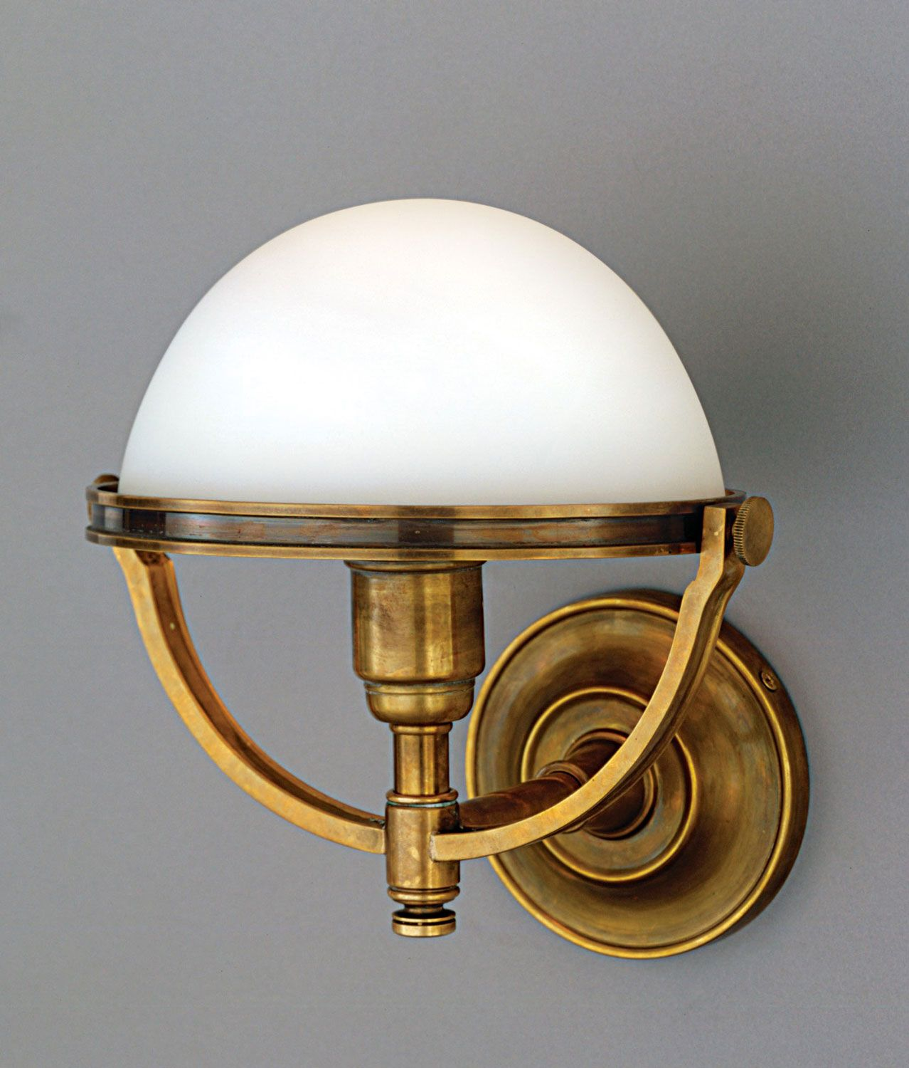 One Light Wall Sconce Brass Wall Sconce Vintage Inspired Sconce