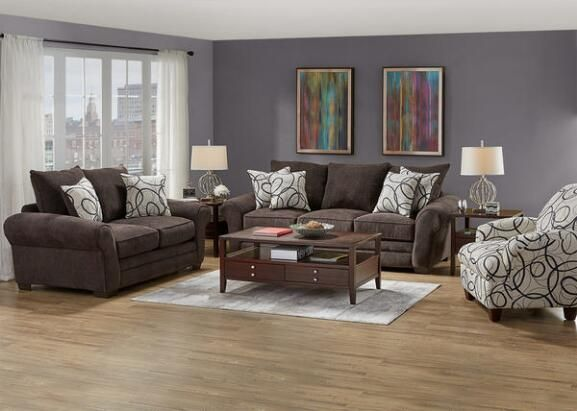 Peyton 3 Pc L R W Accent Chair Living Room Set The Room Place Living Room Sets Accent Chairs For Living Room
