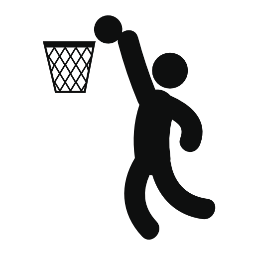 Basketball Player Scoring Free Vector Icons Designed By Freepik Sports Party Centerpieces Free Sport Basketball Drawings