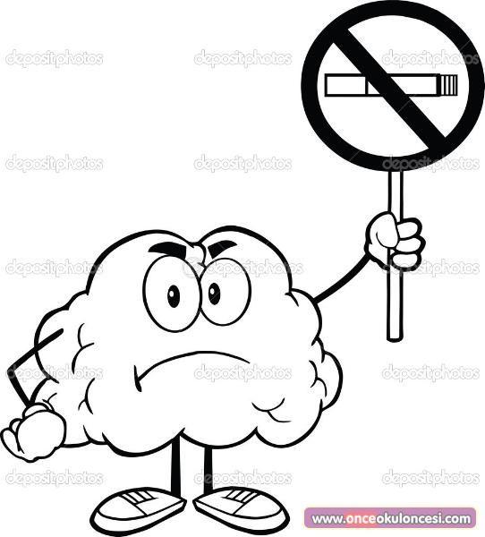 Yeşilay Haftası Için Sigara Içmeyelim Boyama Sayfaları Belirli