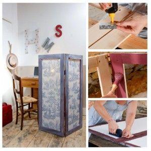 cr er un paravent paravent fait le et cr er. Black Bedroom Furniture Sets. Home Design Ideas