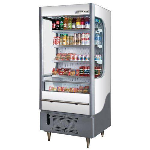 Beverage Air Vm7 1 W Open Display Merchandiser White 7 Cu Ft
