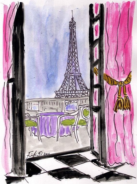 can't wait to visit paris again   Paris, Dessin, Peinture