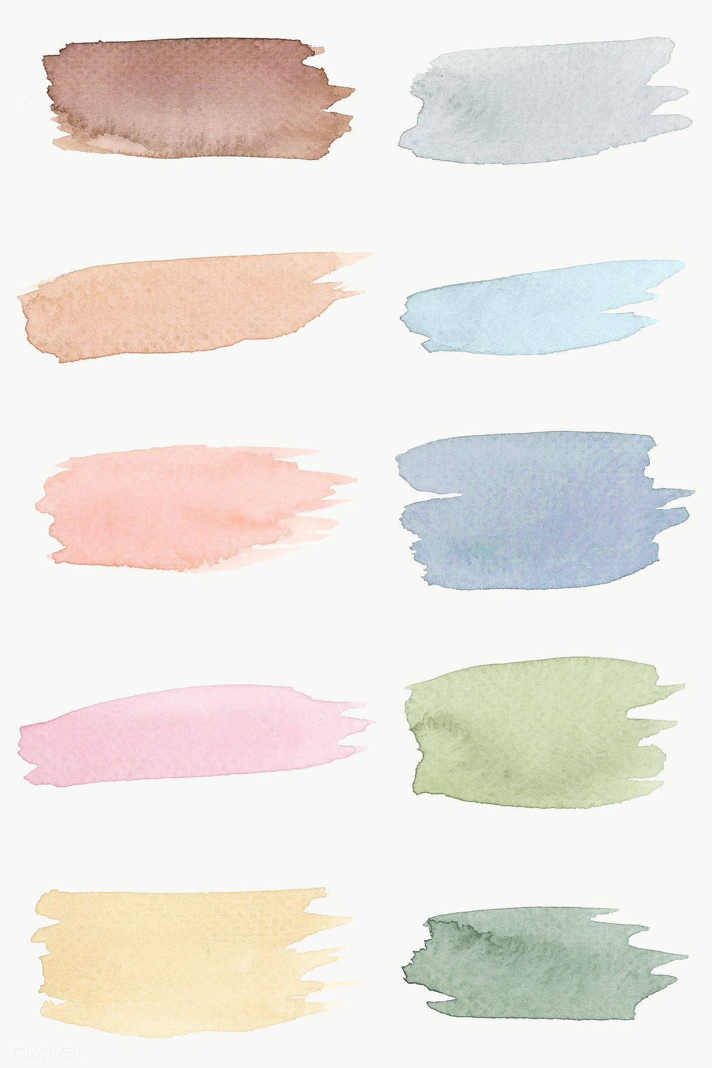 Round Faded Watercolor Set Illustration Free Image By Rawpixel