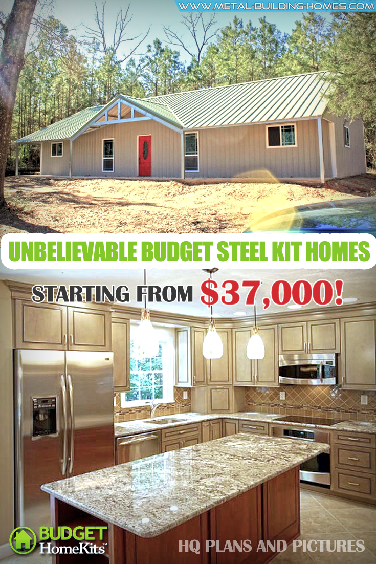 Unbelievable Budget Steel Kit Homes Starting From $37k! Building a home has never been this affordable. With just $37,000 you can now own a home that you can call your own. Yes, these amazing steel kit homes are just the right property for you. #metalhousing #metalhouse #Metalbuildinghomes #housingsolution #SteelKitHomes