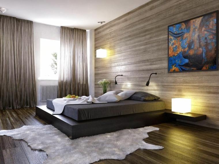Interior Design Haus 2018 Wände mit Holz für Schlafzimmer