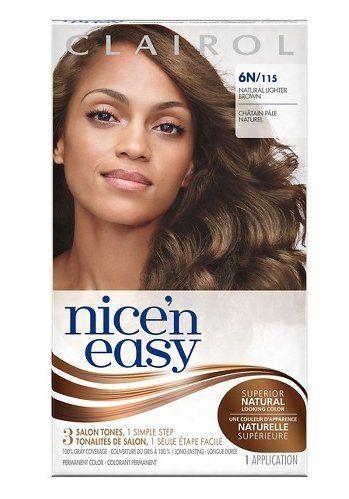 Clairol Nice N Easy Light Blonde Hair Color 6n Natural Lighter