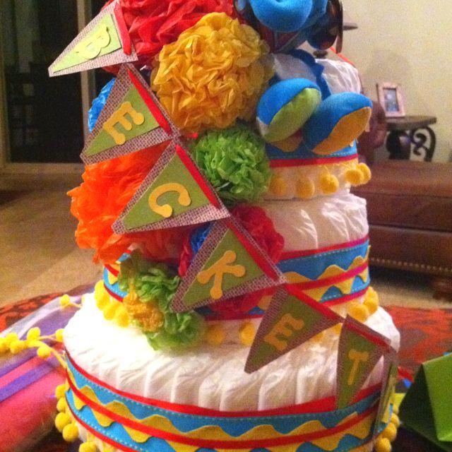 Fiesta Themed Diaper Cake For @ Mandy Davis And Mr