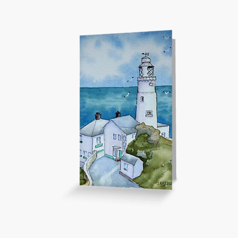 Start Point Lighthouse. Greeting Card by John Ray