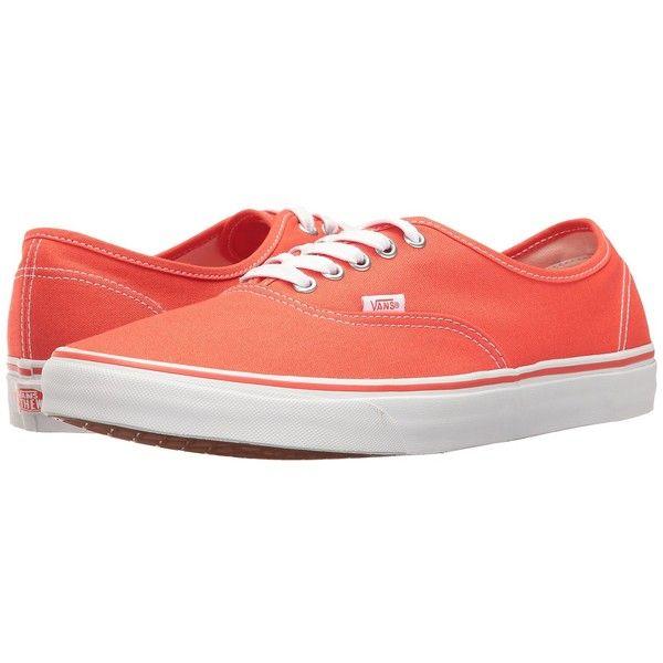 147666487e Vans Authentic ((Canvas) Cherry Tomato True White) Skate Shoes ( 50 ...