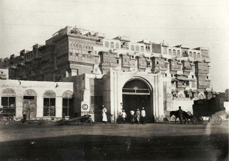 One Of The Gates Leading To The City Of Jeddah Hejaz Year Unknown أحدى بوابات مدينة جدة الحجاز السنة غير معروفة Jeddah Saudi Arabia Jeddah House Of Saud