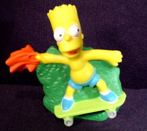 The Simpsons 2007 Talking Bart Figure Toy 2 3 4 Burger King Toys Disney Toys Toy Collection