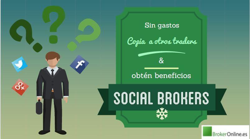 infografía que reza: los mejores brokers sociales