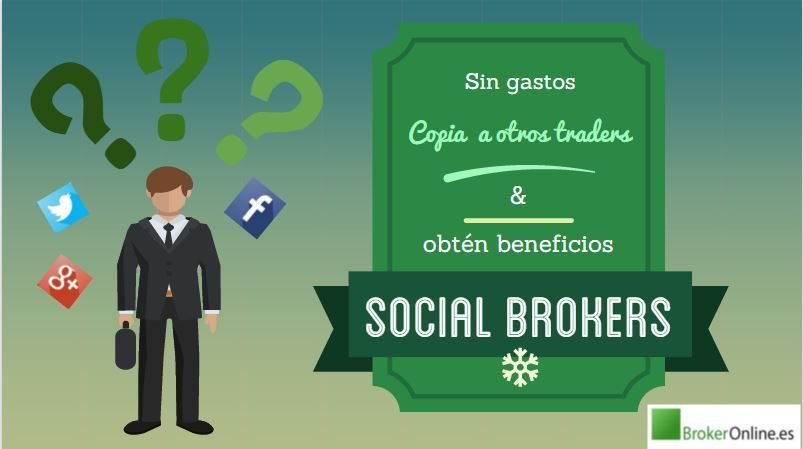 infografía que reza: mejores brókers sociales
