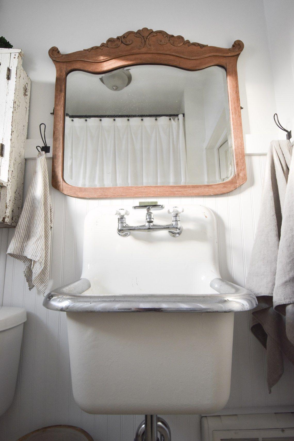 Wall Mount Farmhouse Sink Bathroom Renovation Farmhouse Bathroom