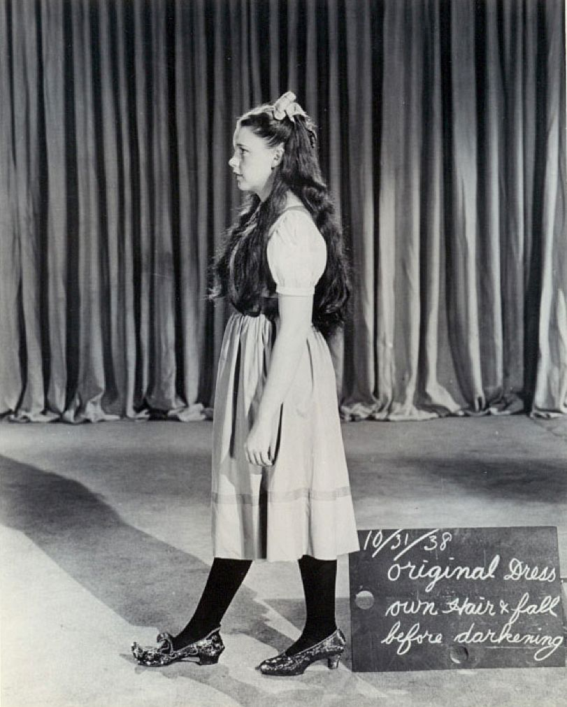 1938 Judy Garland wardrobe text for The Wizard of Oz (1939) with ...