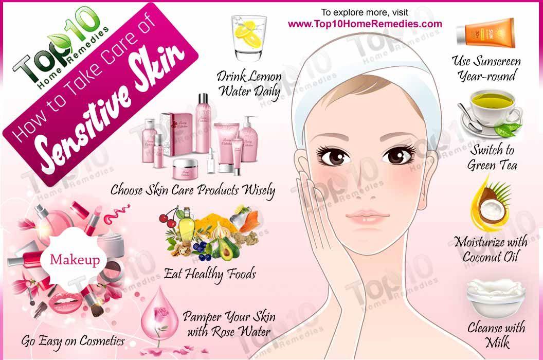 How To Take Care Of Sensitive Skin Top 10 Home Remedies Sensitive Skin Treatment Sensitive Skin Care Healthy Skin Cream