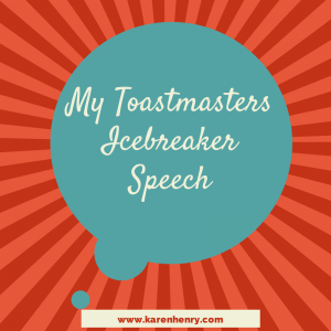 First Toastmasters Speech Example Icebreaker  Ideas For The