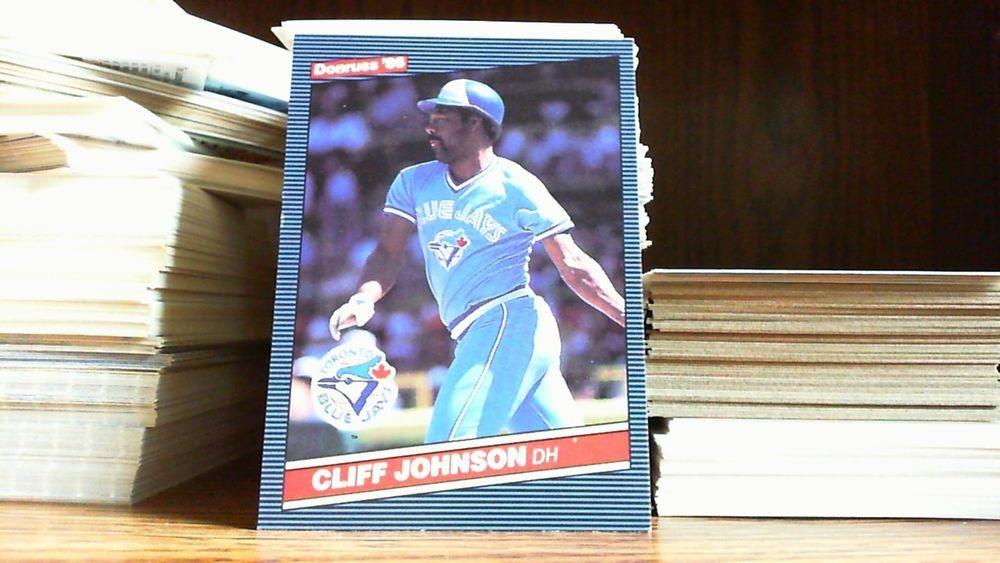 Donruss 1986 Cliff Johnson Card 639 Toronto Blue Jays