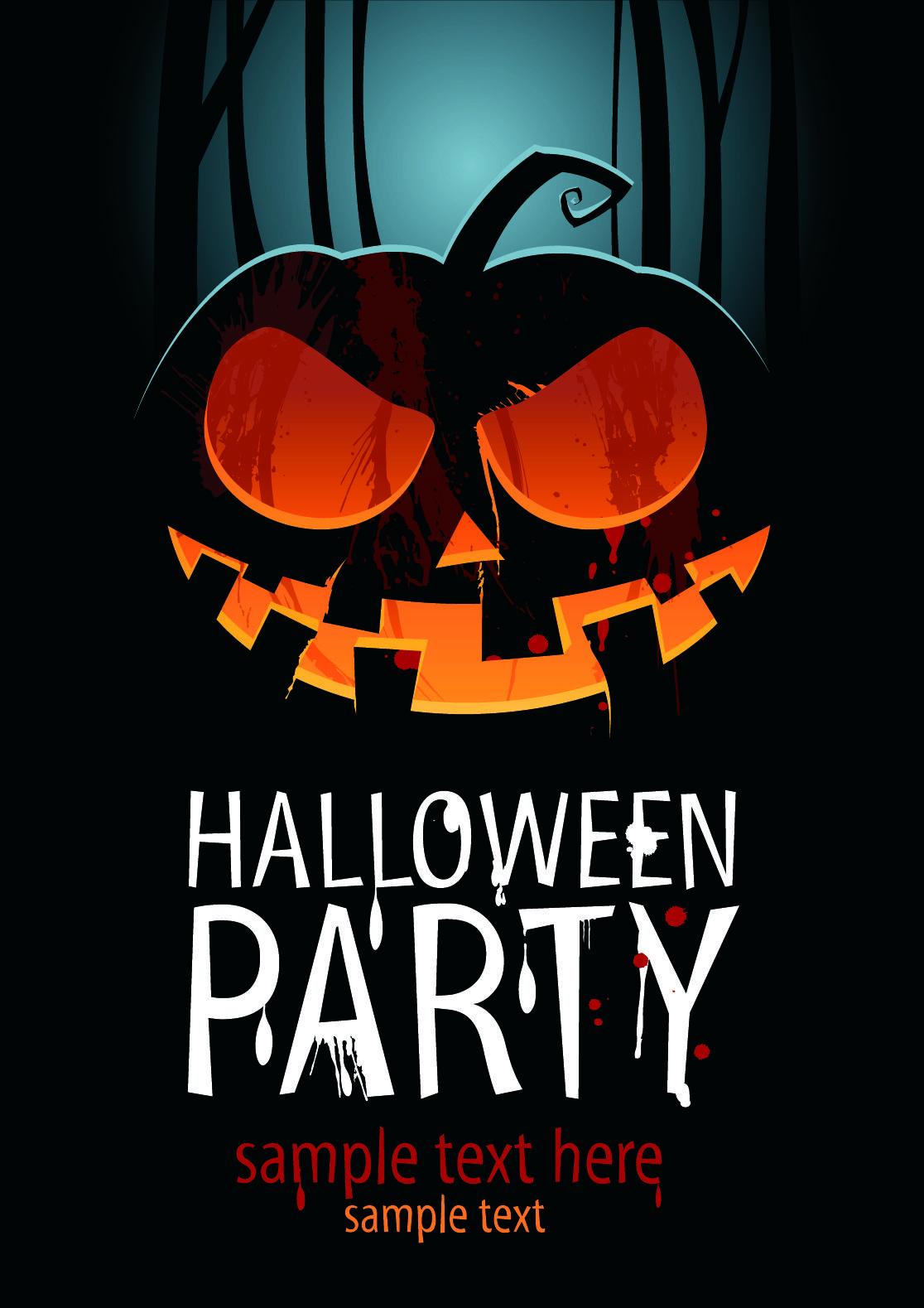 Free vector Halloween posters beautiful background vector