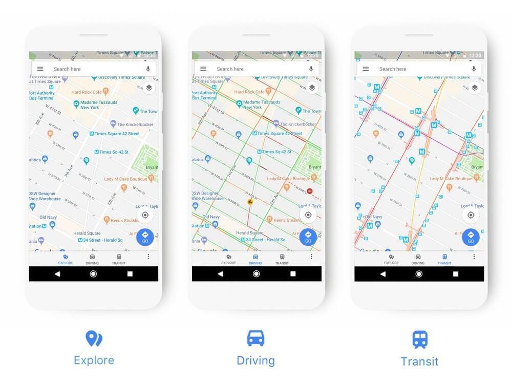Google Maps gets brighter UI, new category icons and more color - logiciel de plan de maison 3d gratuit