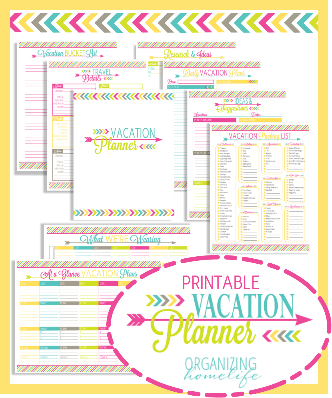 Free Printable Household Planner