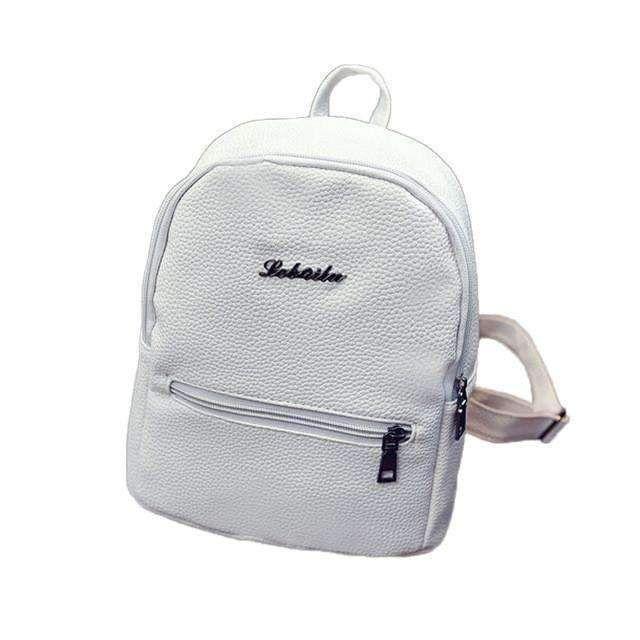 Girls Fashion Ladies Leather School Bag Women Bag Pouch Travel Softback For School  Backpack Satchel Female Shoulder Rucksack 3e3b5977be