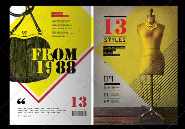 50 InDesign \ PSD Magazine Cover \ Layout Templates Magazine - p & l template