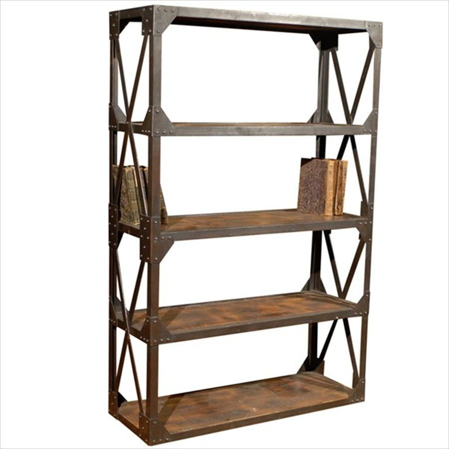 Steel And Wood Bookcase Amazing Bookcases