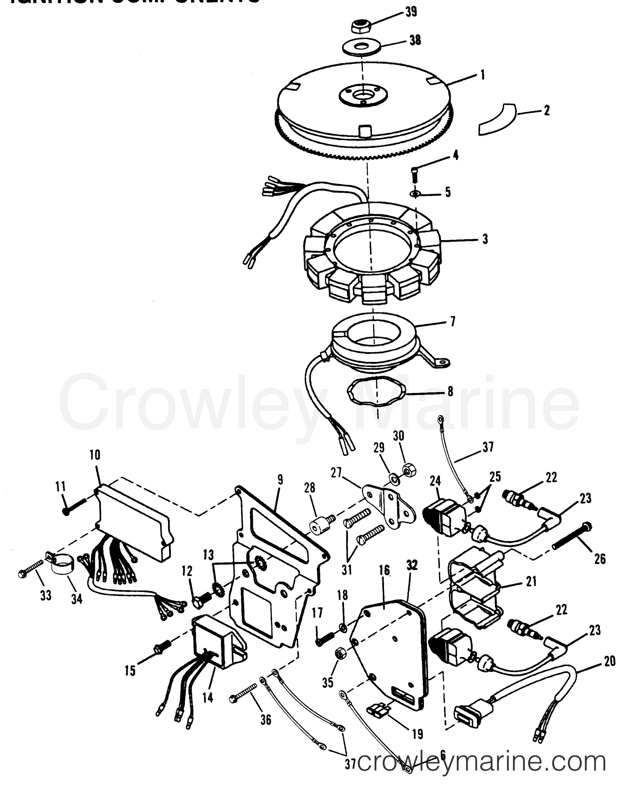 Ignition Components Outboard Mercury Outboard Crowley