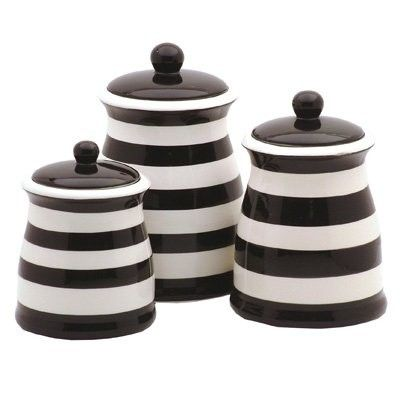 Black And White Kitchen Storage Jars
