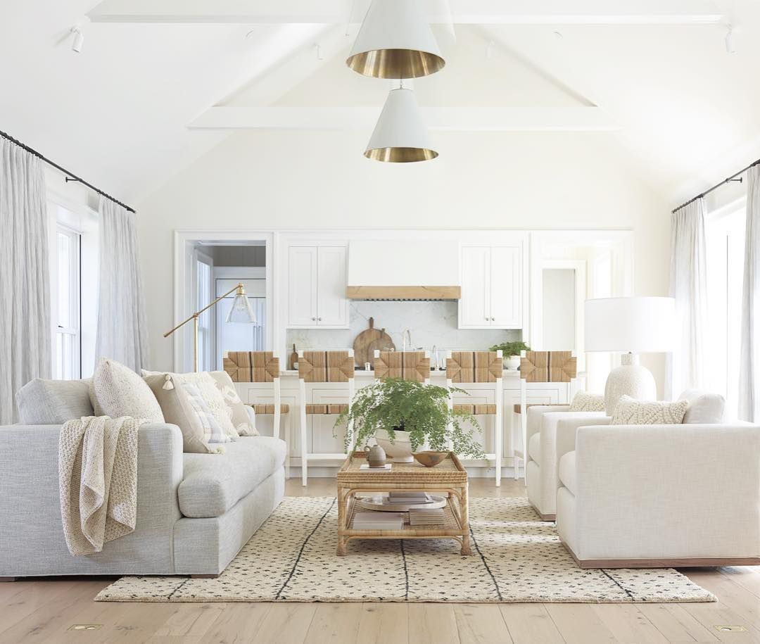 Earthy tones complete this comfortable open concept