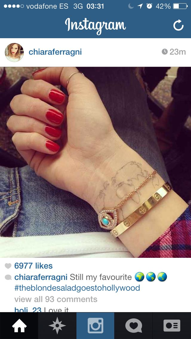 Chiara tat ink pinterest world map tattoos and more chiara tat gumiabroncs Images