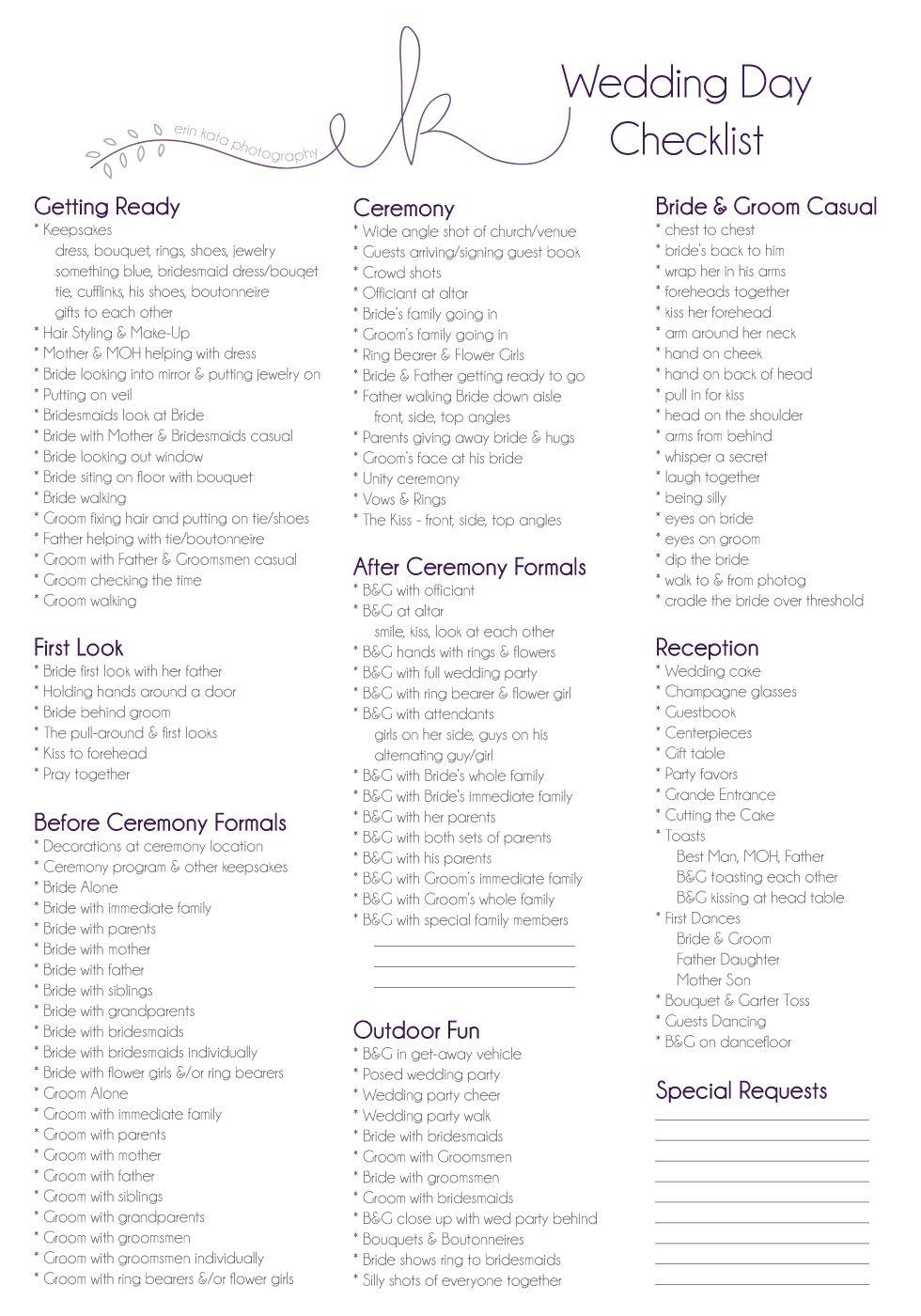Wedding Planner Template Guide Checklist Decoration cakepins.com ...