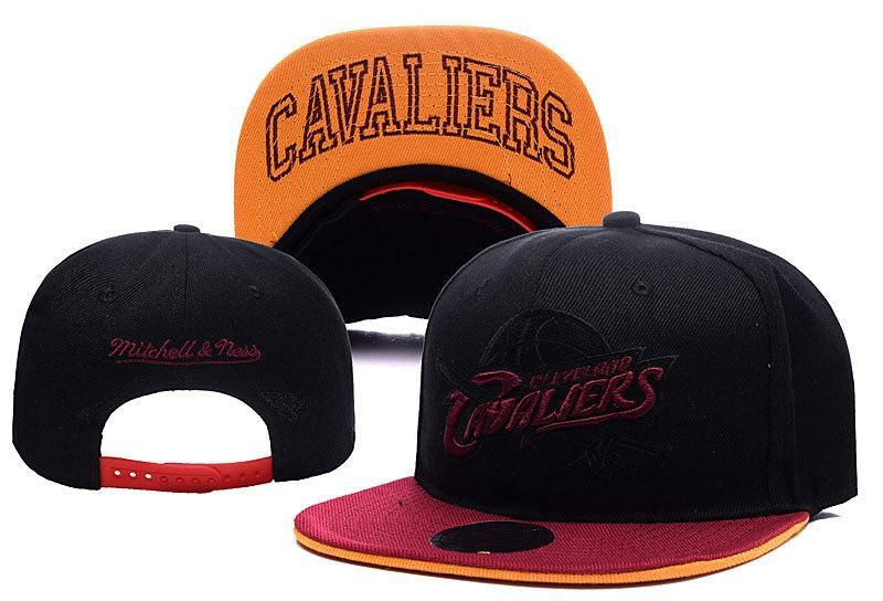 03f4d7a9efb Mens Cleveland Cavaliers Mitchell and Ness NBA XL Blackout Script Underbill Snapback  Cap - Black   Maroon