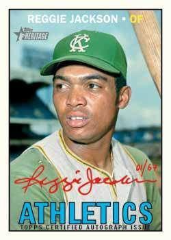 1967 Topps Reggie Jackson Baseball Memories Old Baseball Cards