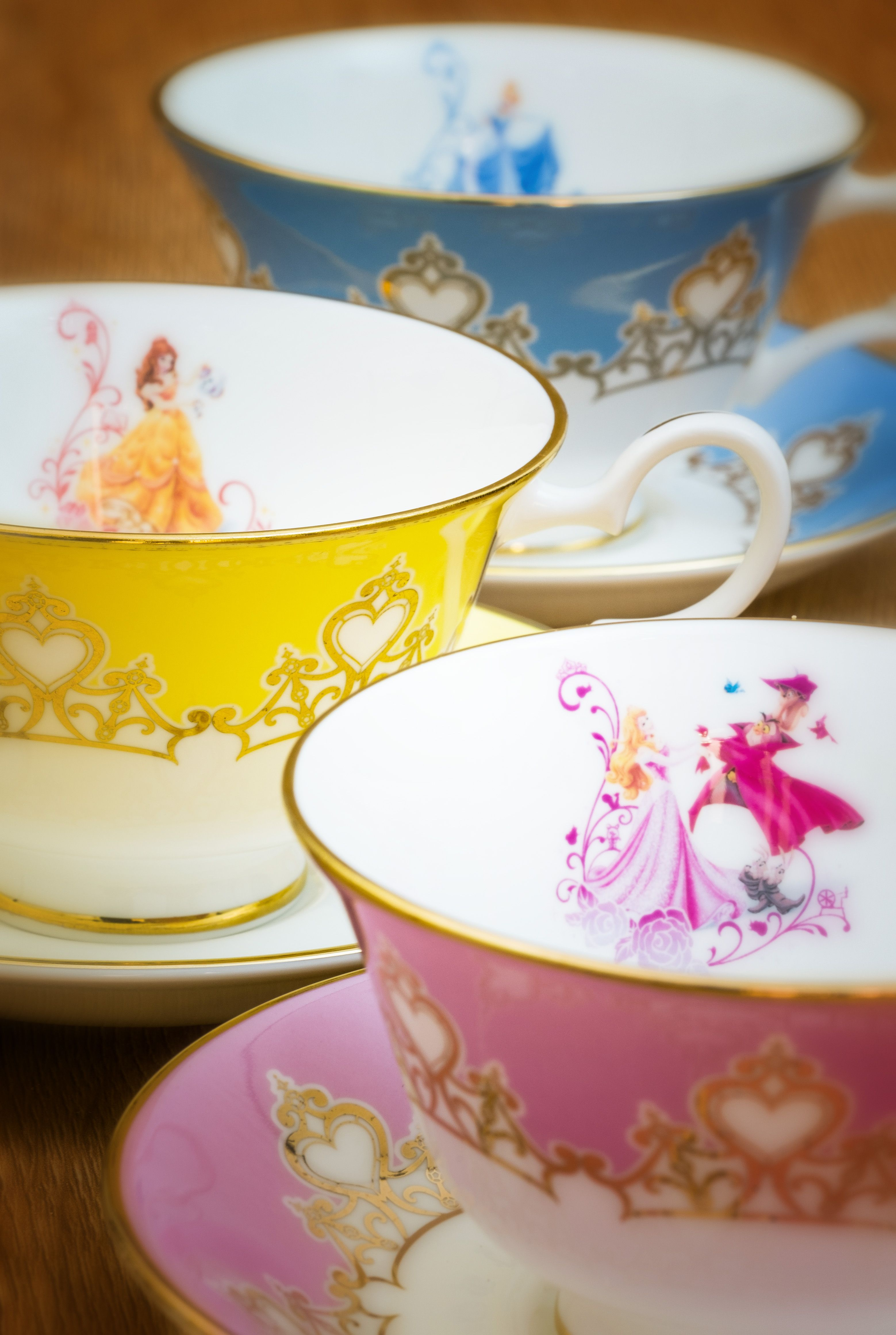 All of our disney princess cups and saucers are finished