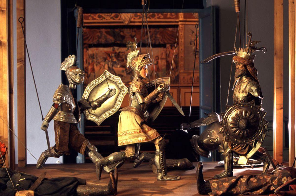 Museo Internazionale delle Marionette Antonio Pasqualino scena di Ruggiero
