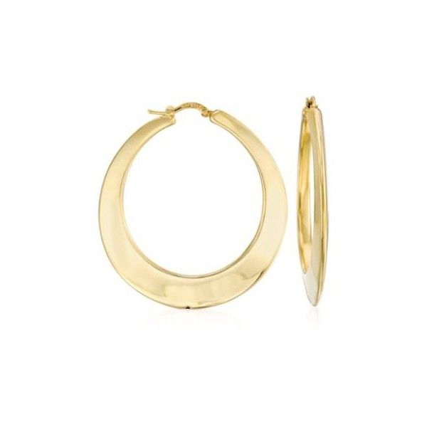 Ross Simons Italian 14kt Yellow Gold Hoop Earrings 1 3 4 Inches