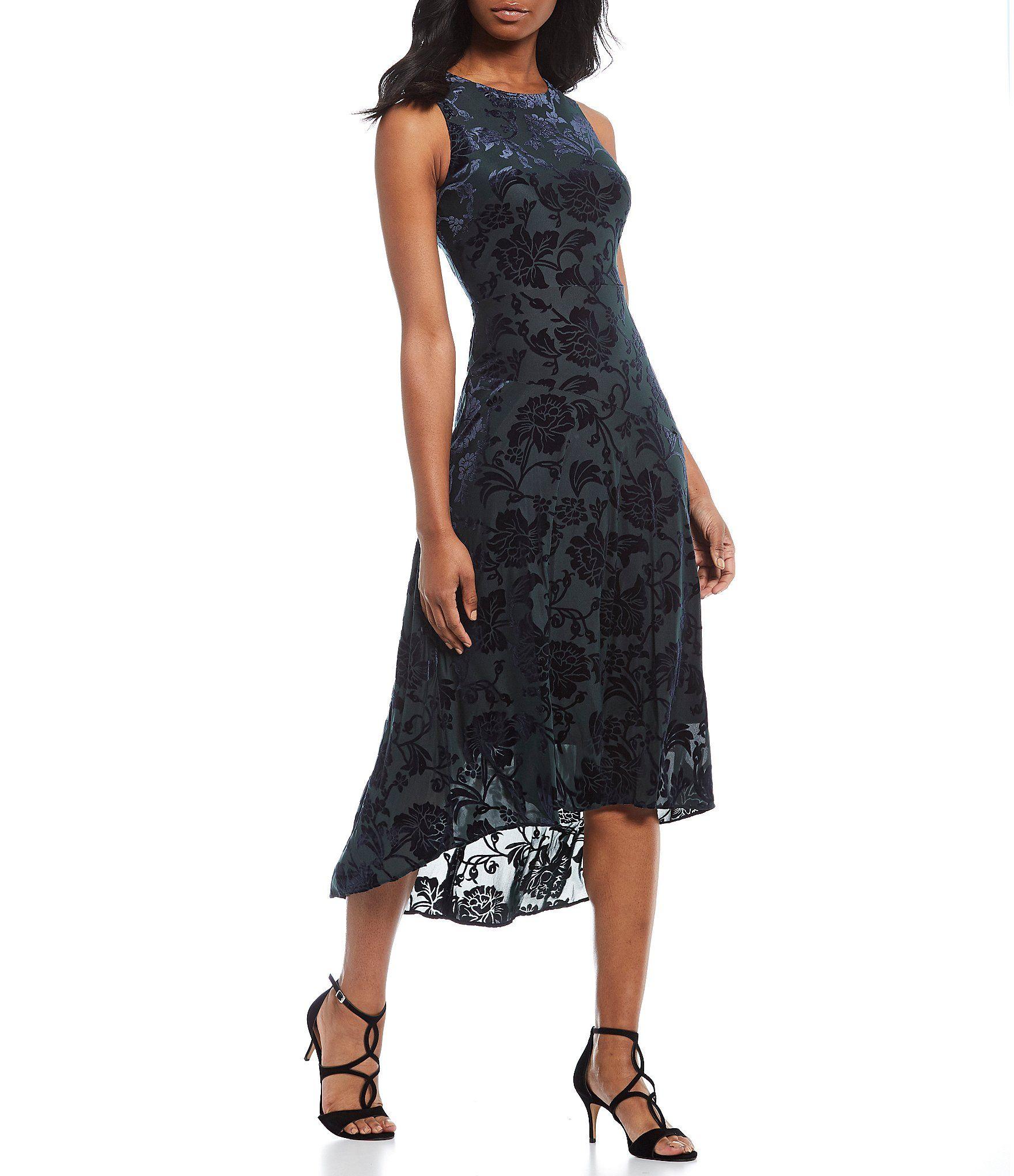 Shop For Vince Camuto Sleeveless Velvet Burnout Floral Print Hi Low Midi Dress At Dillard S Visit Dilla Midi Dress Style Dresses For Teens Womens Midi Dresses [ 2040 x 1760 Pixel ]