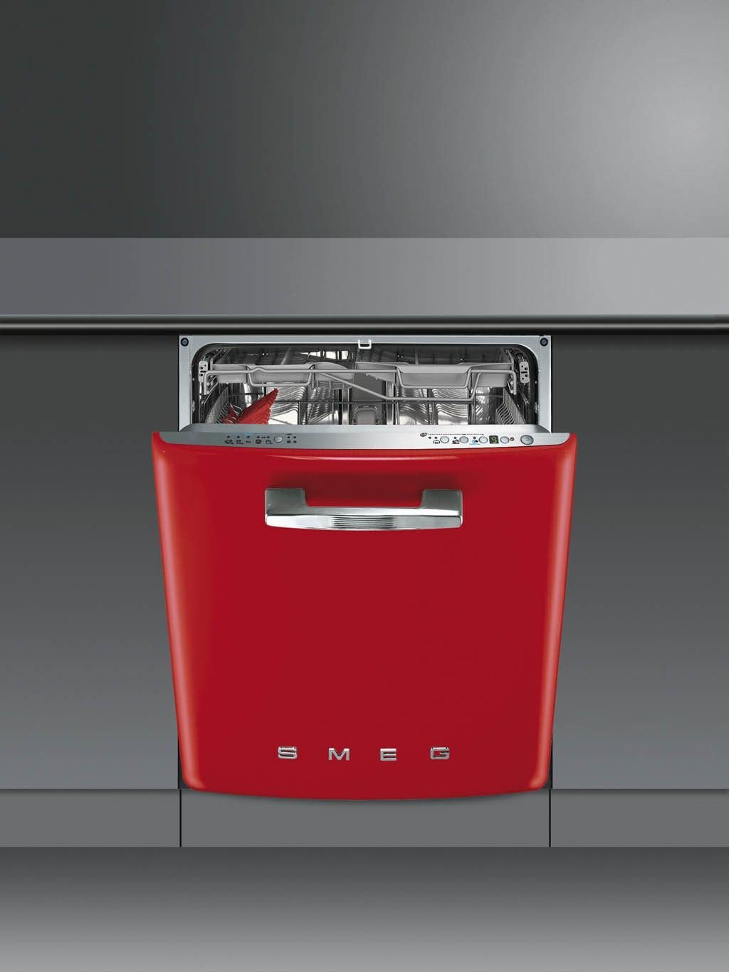 Smeg DI6FABR2 Retro BuiltIn 60 Red Dishwasher Retro